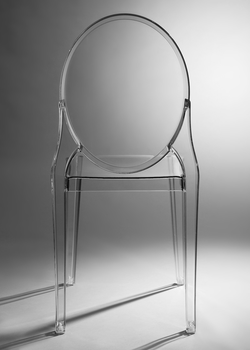 lucite chair front