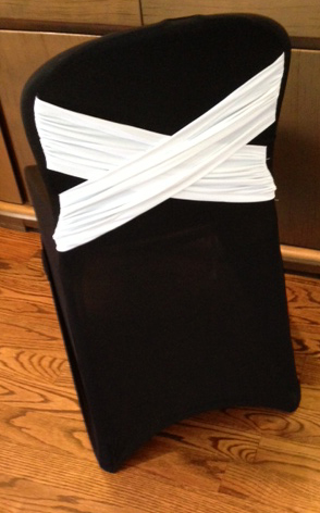 Diamond x Chair cover in black