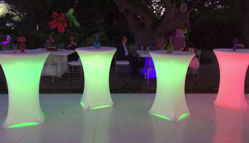 Solid color Spandex, fitted table covers