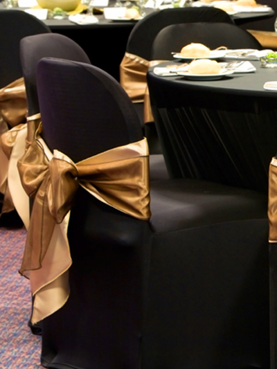 gold sash for chair covers