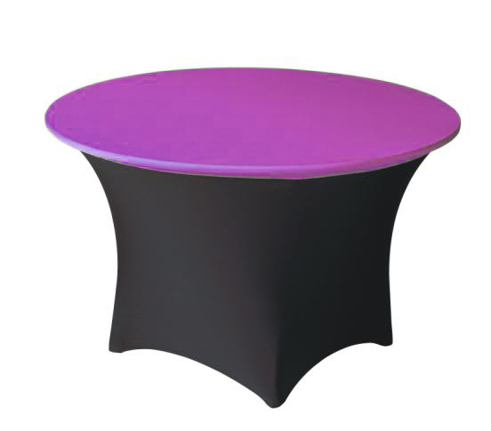 colored spandex toppers with colored spandex tablecloths