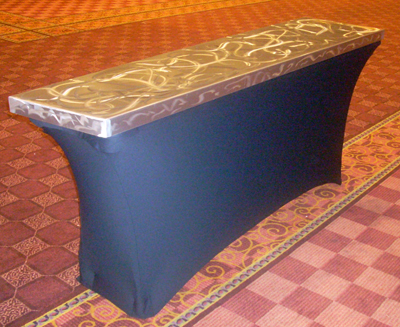 Laguna Spandex Linens Aluminum Table Toppers