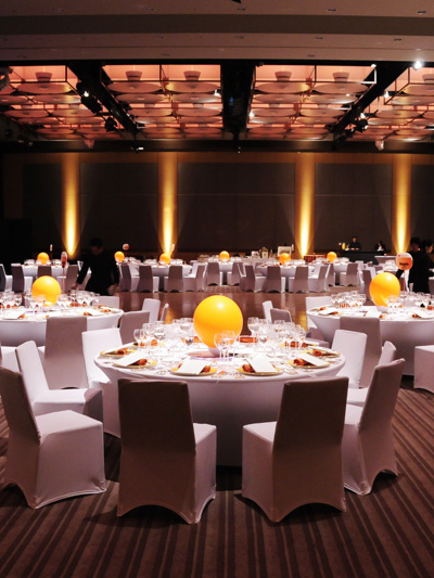yellow LED light centerpieces